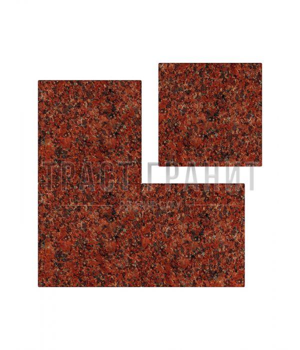 Плитка из красного лезниковского гранита ТЕ304