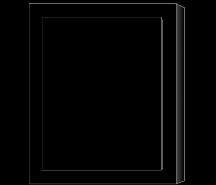 Цветник из полимергранита СА812