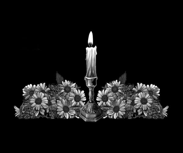 Цветы на памятниках и гранита