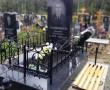 Плитка на кладбище из карельского гранита