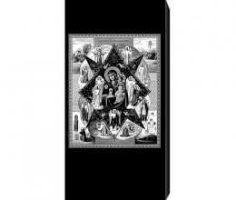 Гравировка иконы на памятник OC116 Неопалимая Купина