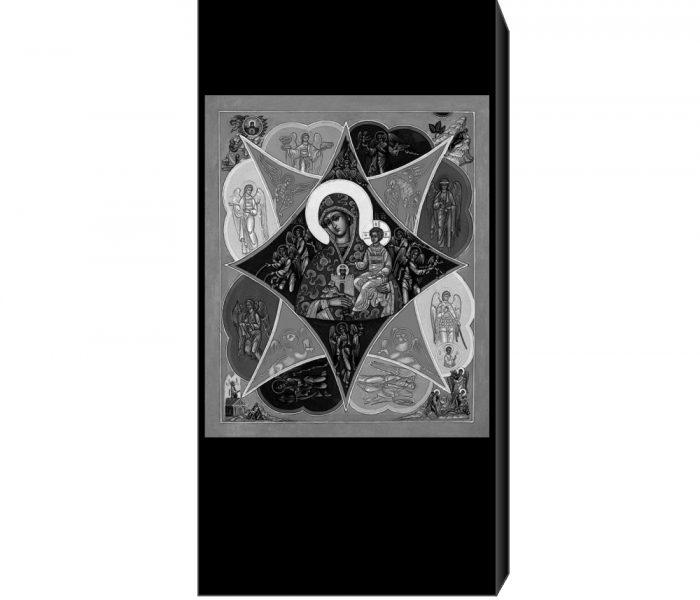 Гравировка иконы на памятник Неопалимая Купина
