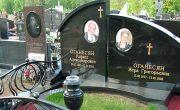 Изготовление элитных комплексов на Даниловском кладбище в Москве. Гранитный комплекс с установкой на Даниловском кладбище от завода-изготовителя.