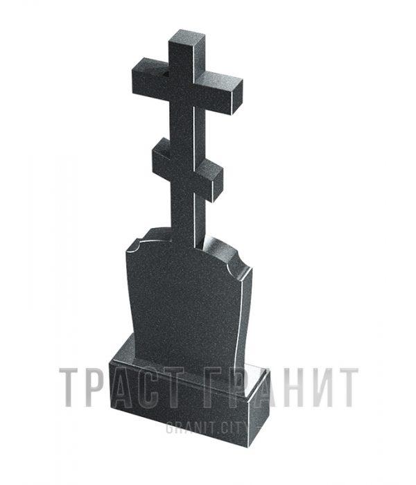 Памятник с крестом из гранита на могилу К101