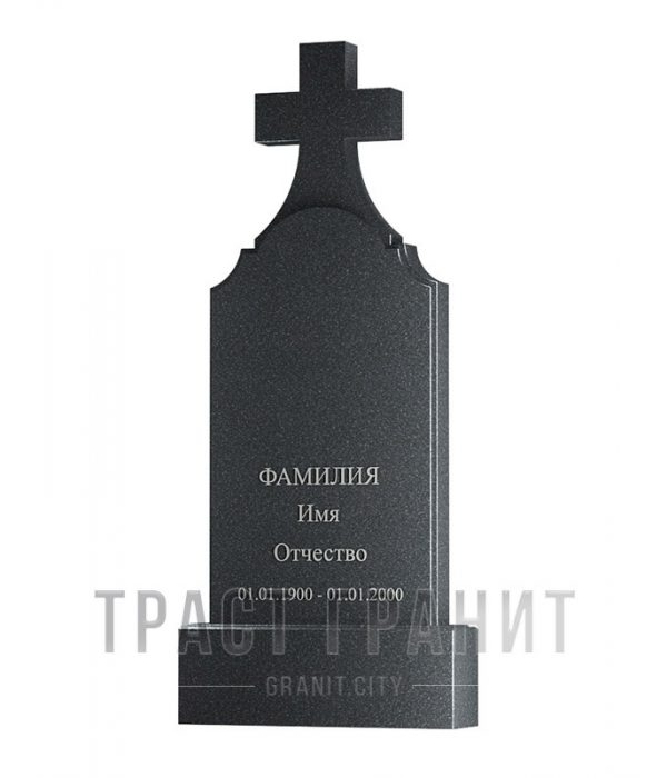 Памятник с крестом из гранита на могилу К132