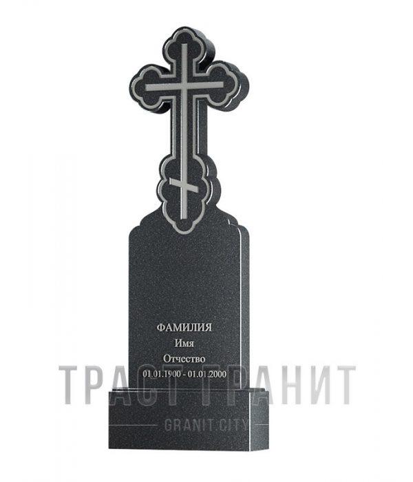 Памятник с крестом из гранита на могилу К135