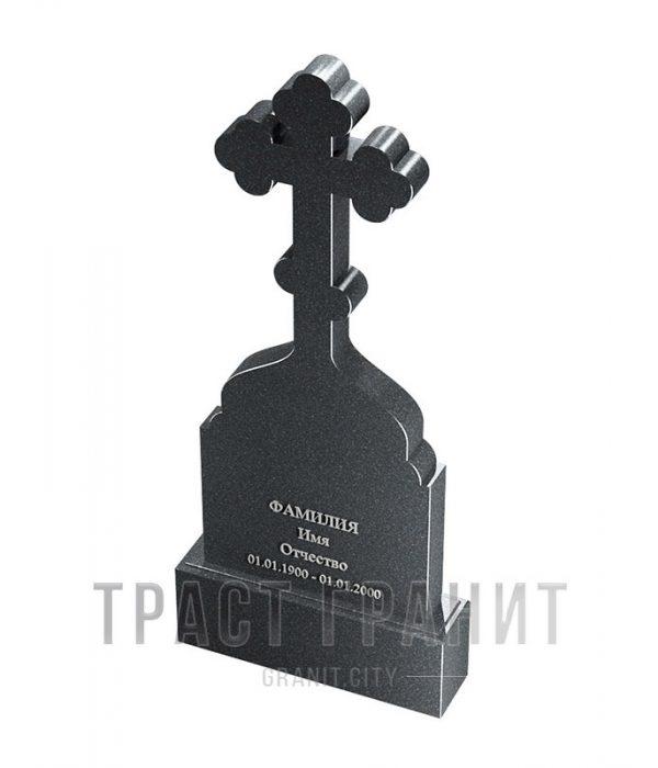 Памятник с крестом из гранита на могилу К142
