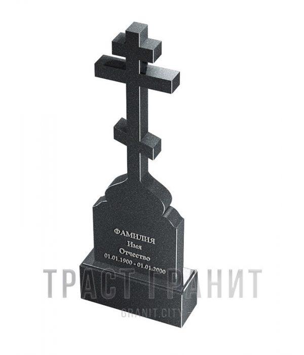 Памятник с крестом из гранита на могилу К147