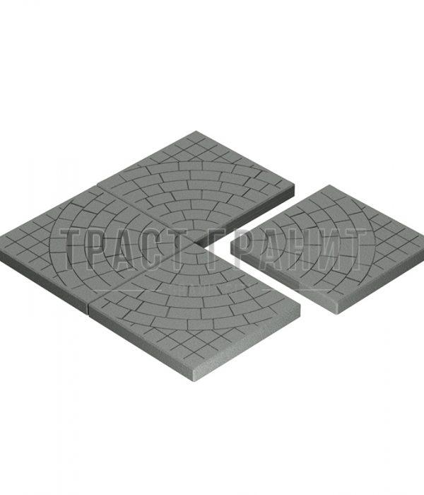 Тротуарная плитка серая Т103
