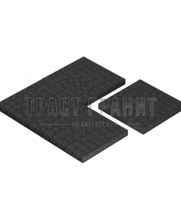 Тротуарная плитка черная Т105