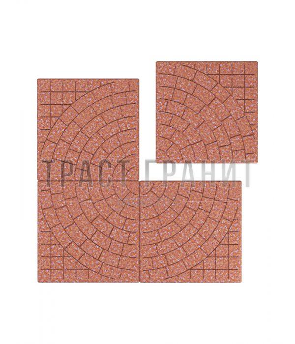Тротуарная плитка красная Т104