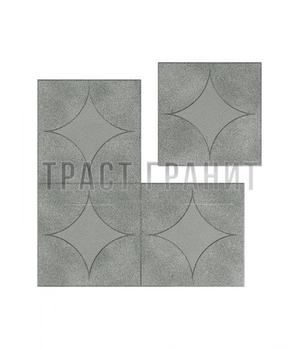 Тротуарная плитка серая Т102