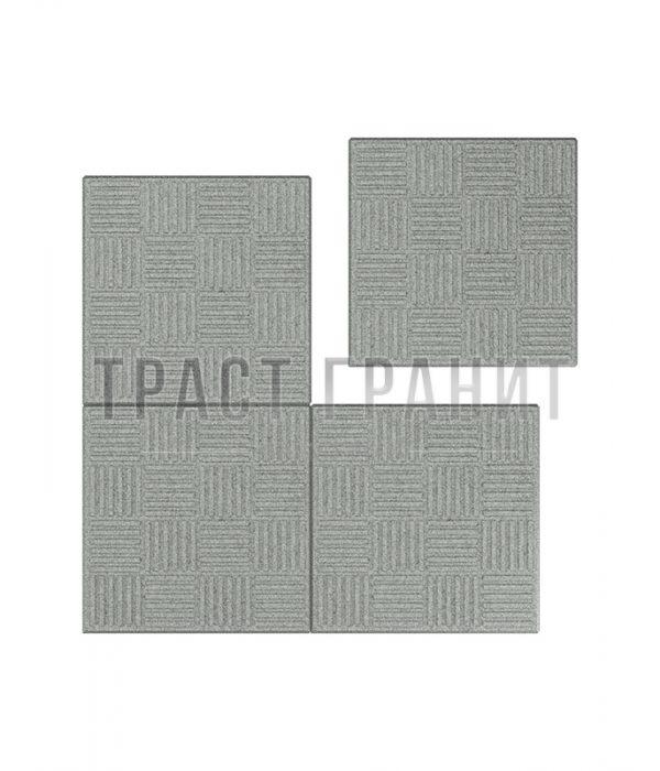 Тротуарная плитка серая Т101
