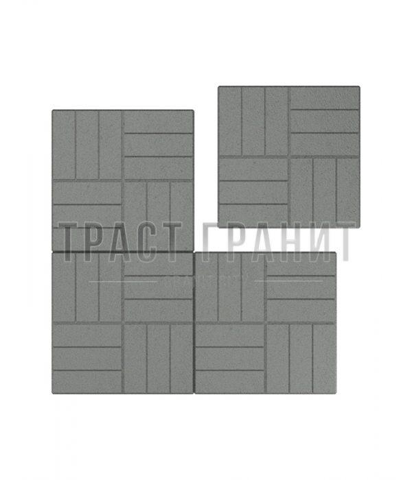 Тротуарная плитка серая Т106