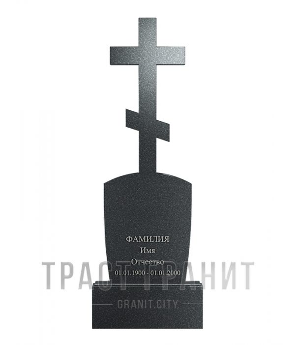 Памятник с крестом из гранита на могилу К156