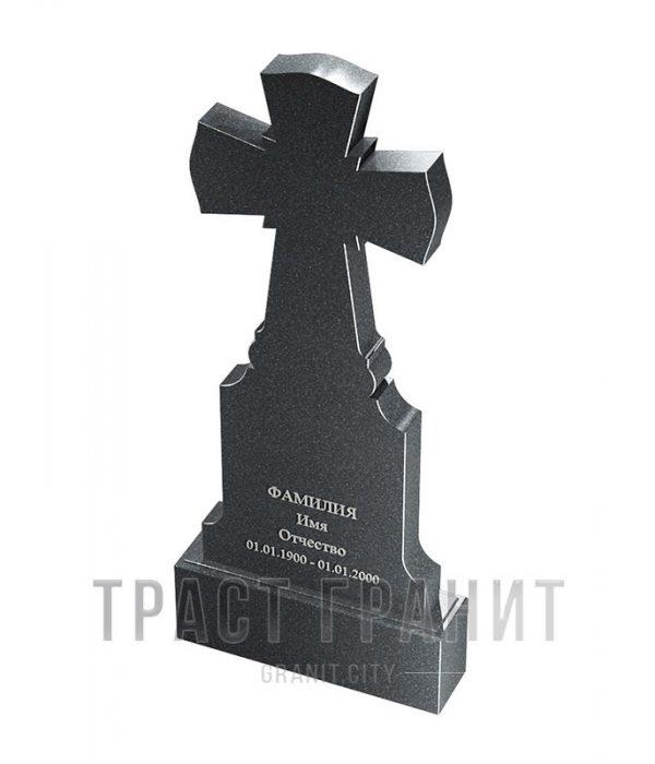 Памятник с крестом из гранита на могилу К148