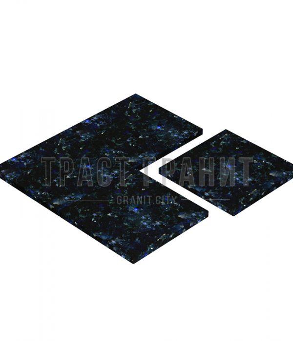 Плитка из синего гранита Лабрадорит Волга Блю ТЕ305