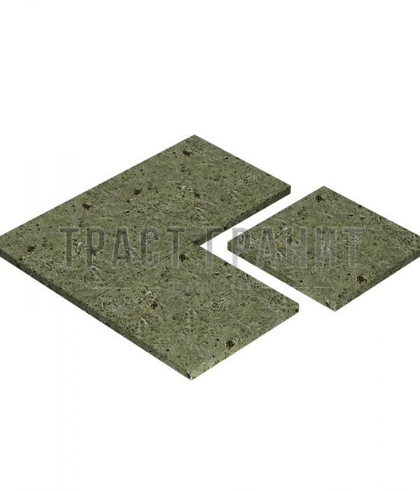 Плитка из зеленого масловского гранита ТЕ306