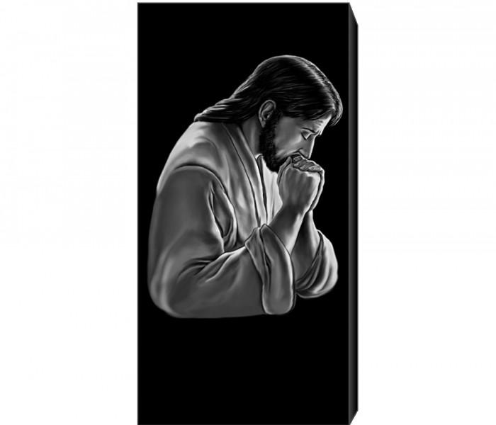 Иисус в молитве. Гравировка иконы на памятник OC108