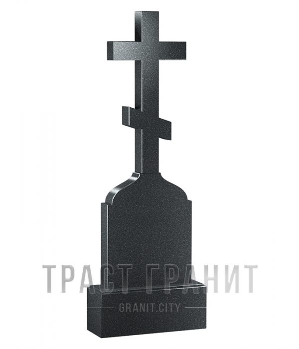 Памятник с крестом из гранита на могилу К110