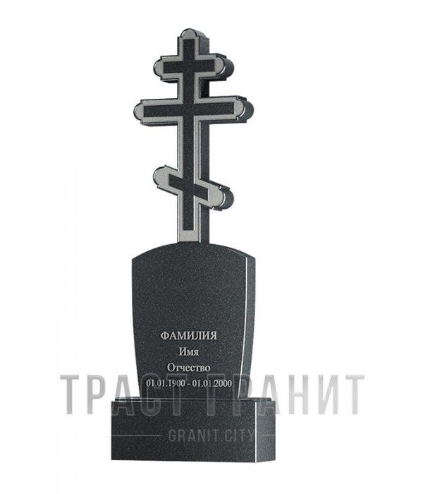 Памятник с крестом из гранита на могилу К121
