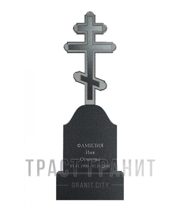 Памятник с крестом из гранита на могилу К122