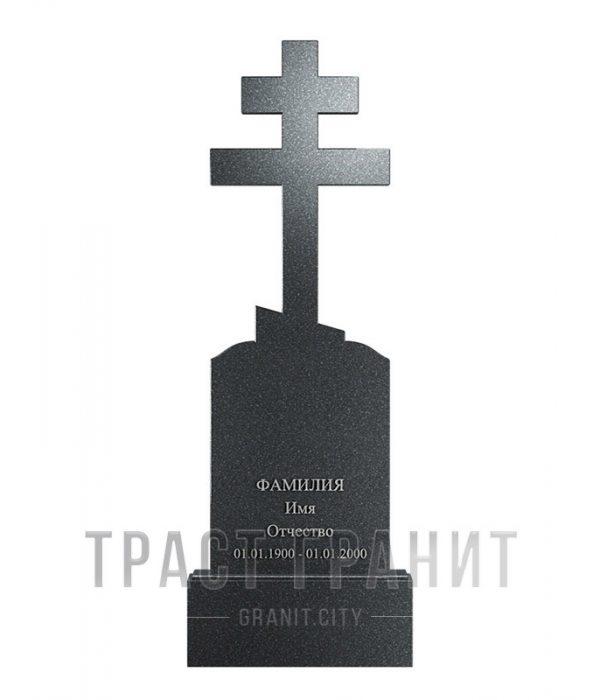 Памятник с крестом из гранита на могилу К130