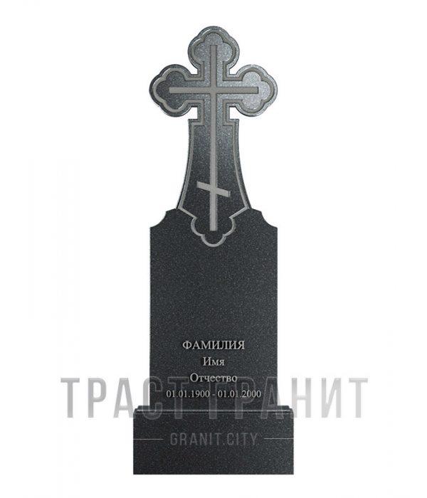 Памятник с крестом из гранита на могилу К136