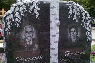 Памятник с березой на могилу