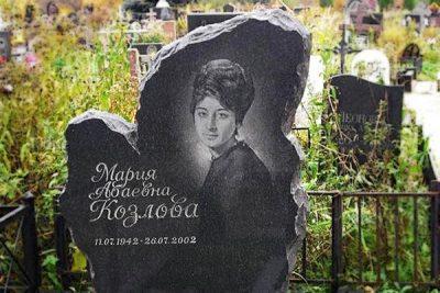 Памятник валун корка на могилу