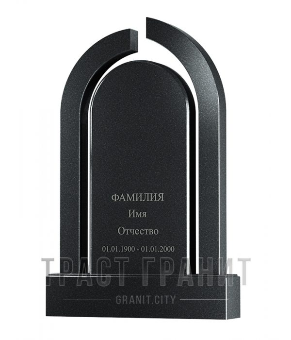Памятник арка из гранита на могилу Р106