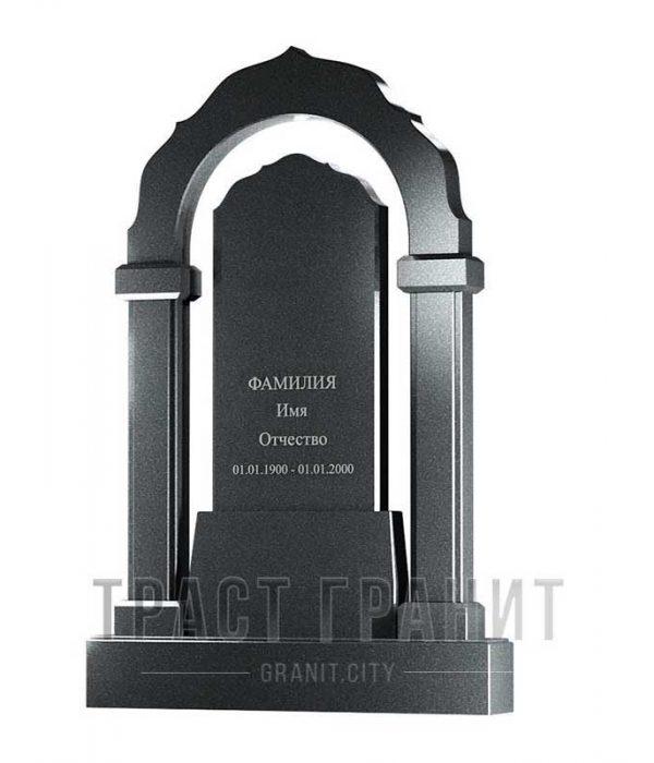 Памятник арка из гранита на могилу Р123