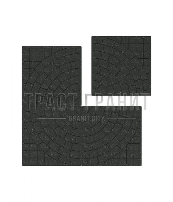 Тротуарная плитка на могилу черная Т105