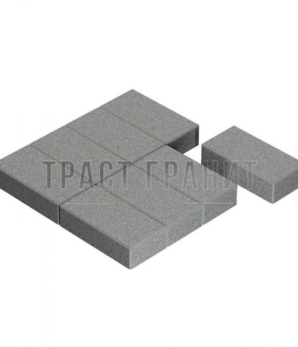 Тротуарная плитка на могилу серая Т107