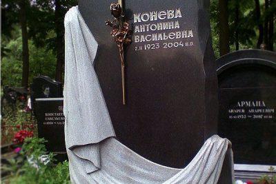 Памятник с плащаницей на могилу