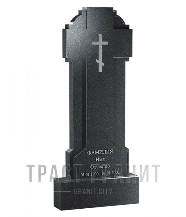 Памятник с крестом из гранита на могилу К158