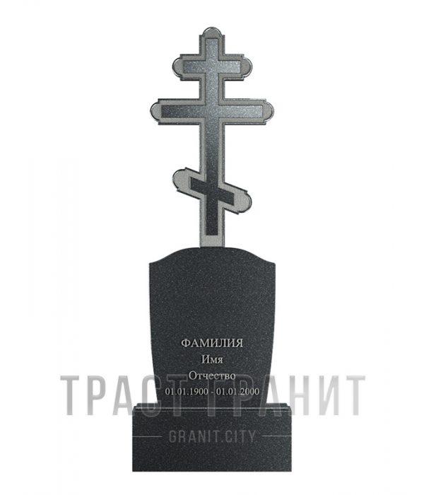 Памятник с крестом из гранита на могилу К152