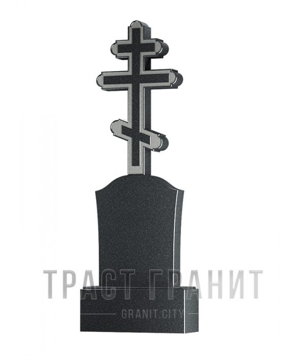 Памятник с крестом из гранита на могилу К154