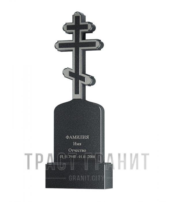 Памятник с крестом из гранита на могилу К155