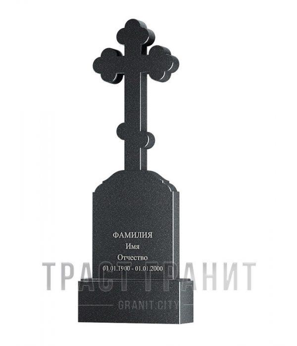 Памятник с крестом из гранита на могилу К157