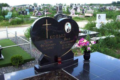 Памятник сердце на могилу